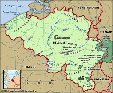 netherlands mountains map ardennes region europe britannica