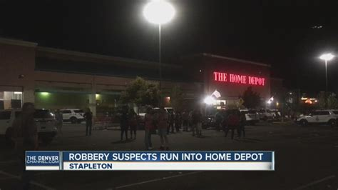 robbery suspects arrested after running into denver home