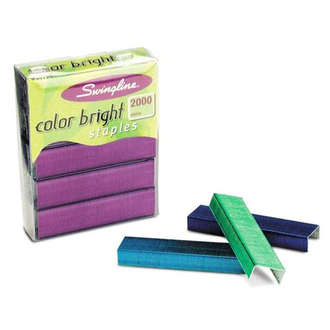 colored staples swingline brightly colored staples quickship