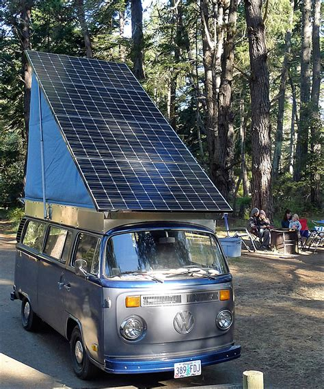 electric volkswagen van family creates solar electric volkswagen cer van