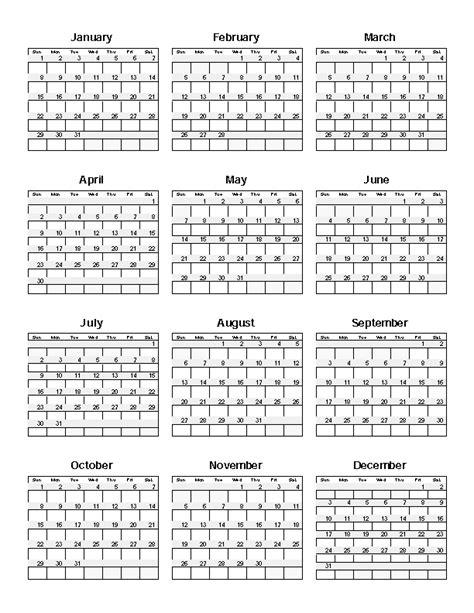 365 Day Calendar Template by 365 Day Calendat Calendar Template 2016
