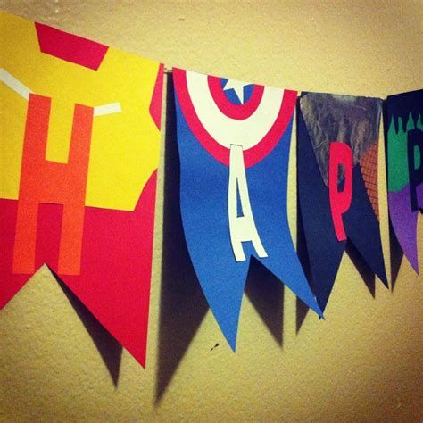 Bunting Flag Happy Birthday Avenger By Queenballoon 17 best images about theme on birthday birthday photos