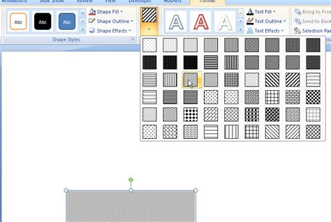 powerpoint shape pattern fill powerpoint 2007 pattern fills