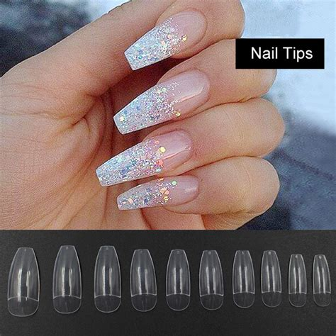 10 Tips For Nails by Aliexpress Buy 500pcs Ballerina Half Nail Tips