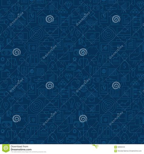 pattern design business thin banking line business finance dark blue seamless