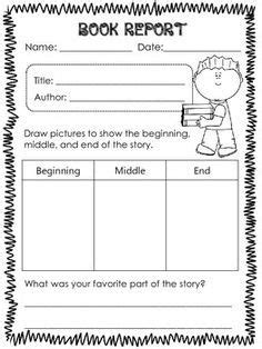 Book Report Templates For 1st Grade Google Search Book Report Formats Pinterest Book 2nd Grade Book Report Template Free