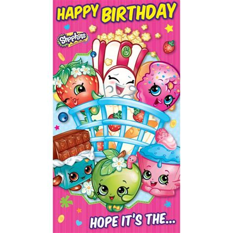 happy stickers for card happy birthday shopkins stickers birthday card sk023