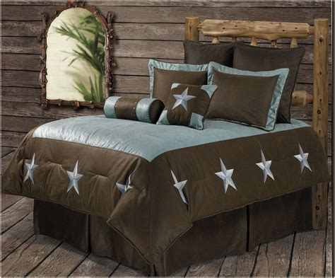 western red triple star comforter set rwba9183 sq turquoise western 6 bedding set
