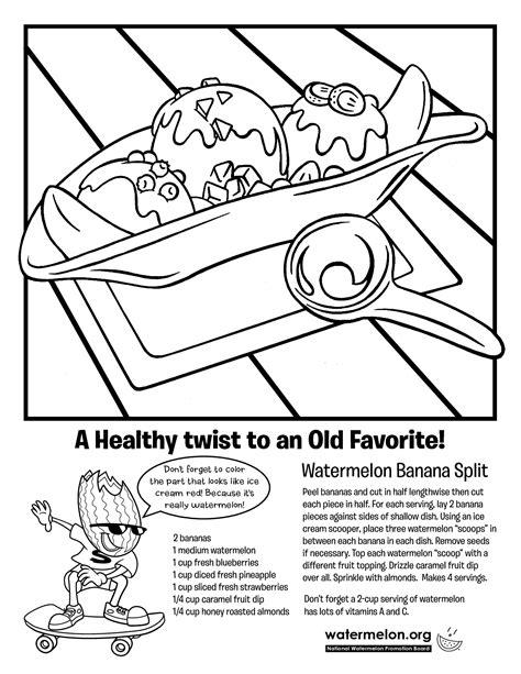 Banana Split Coloring Pages Az Coloring Pages Banana Split Coloring Page