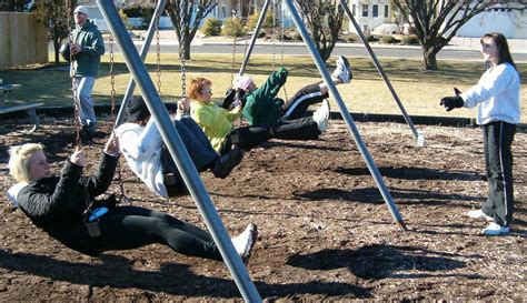 fitness swing set time to exercise outdoors with a playground swing
