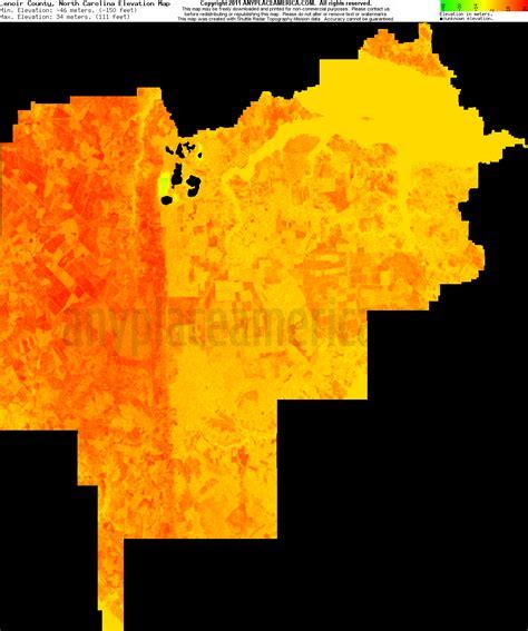carolina elevation map free lenoir county carolina topo maps elevations