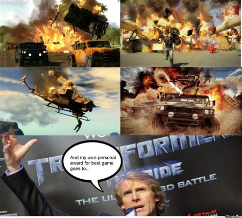 Michael Bay Memes - michael bay just cause he can by arcticroflwolf meme center