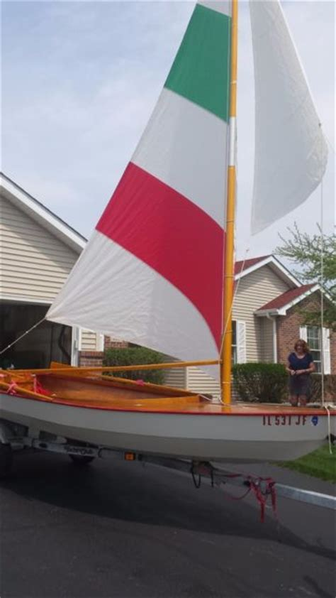 custom boat covers illinois 15 foot custom built wooden sailboat with trailer and