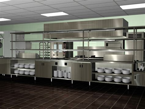Designing A Commercial Kitchen | professional kitchen layout decorating ideas