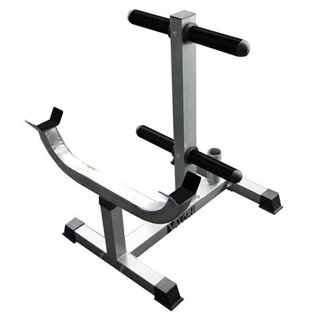 Curl Bar Rack by Standing Curl Bar Station With Olympic Plate Storage