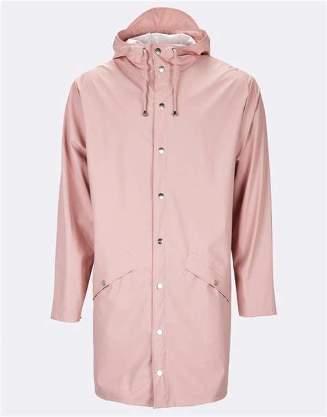 jacket design for unisex rains long jacket rose pale pink rains raincoat