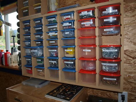 garage hardware organizers hardware storage by kmt lumberjocks woodworking
