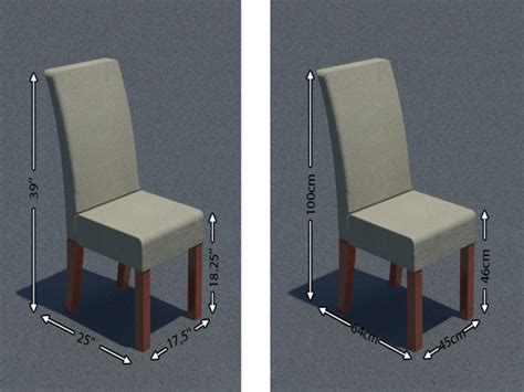 Standard Dining Chair Size Dining Chair Dimensions