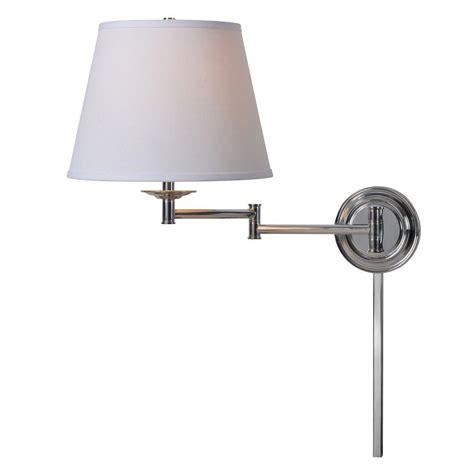 kenroy home architect 1 light chrome wall swing arm light
