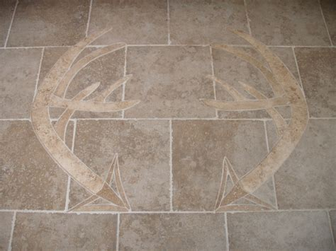 tile inlay carved inlay in tile floor modern