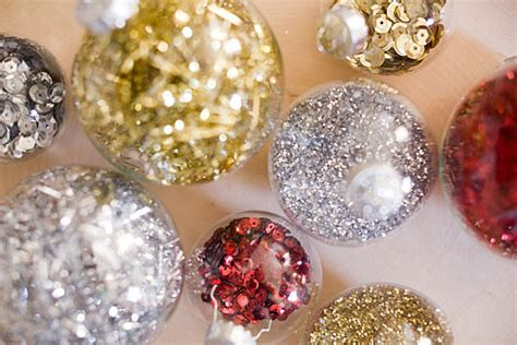 diy ornaments glitter 12 diy ornaments for a festive tree