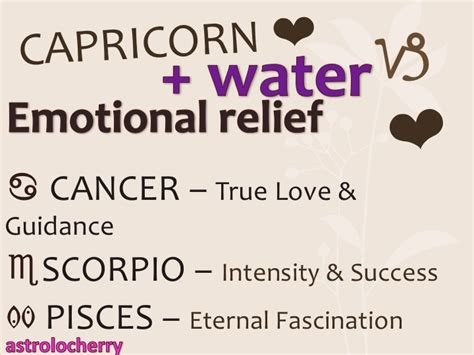 astrolocherry capricorn compatibility with water signs