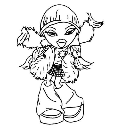 coloring pages bratz dolls bratz colouring pages cloe bratz coloring pages jasmine