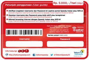 Spin Card Wifi Id username dan password speedy instan spin wifi id april