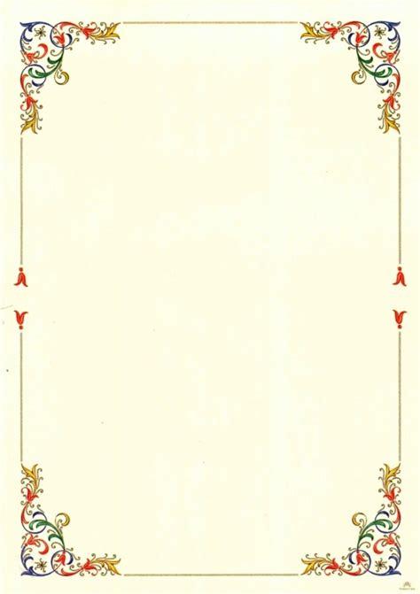 cornici a4 cornici per poesie word cornici per pergamena cornicette