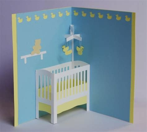 Pop Up Crib Card Template by 17 Best Images About Pop Up Cards On Cards