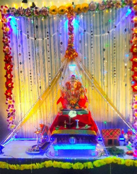 ganpati decoration at home image result for ganpati decoration ideas for home with
