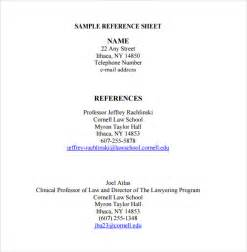 reference sheet template reference sheet template 9 free documents in pdf