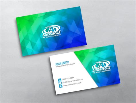 advocare business cards template advocare business card 23
