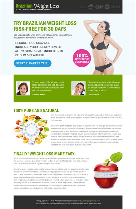 best weight loss landing page design to maximize your