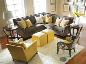 Yellow And Gray Living Room by 15 Yellow Rooms Messagenote