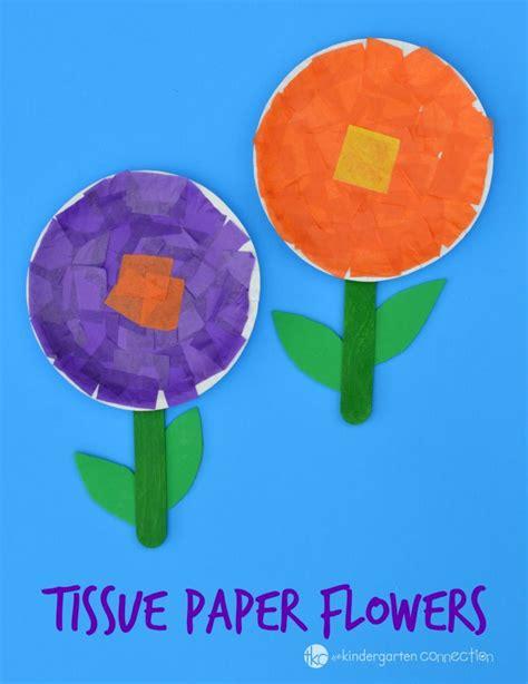Paper Flower Craft For Preschoolers - tissue paper flower craft flower crafts motor skills