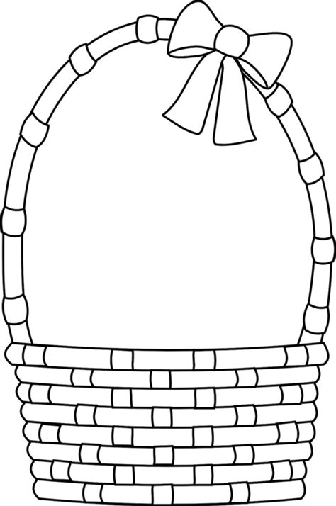 template for basket blank easter basket clipart