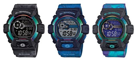 G Shock Gls 6500 Black g shock gls 8900ar g lide light color series g