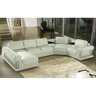 hokku designs leather sectional hokku designs ruby sectional reviews wayfair
