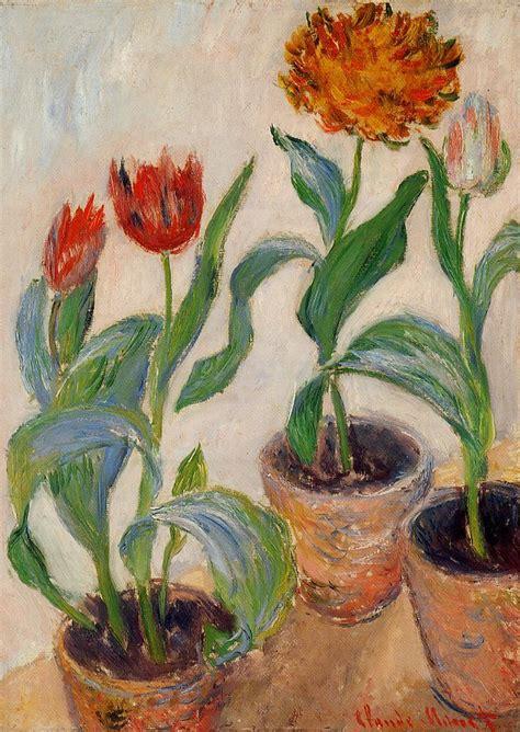 pots  tulips  claude monet wikiartorg