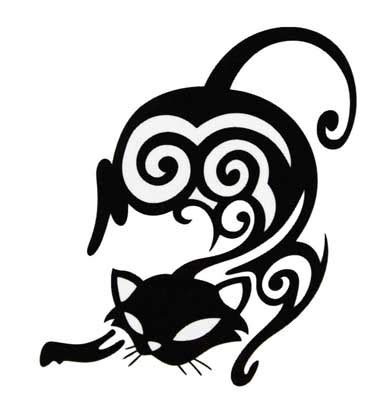 tribal cat tattoos 10 awesome tribal cat tattoos only tribal