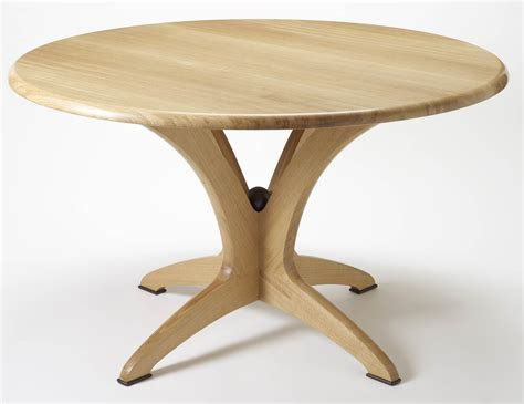 circular wooden kitchen table bespoke dining table in solid oak makers eye