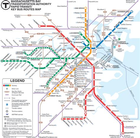Boston Mba Program Requirements by Mbta Map 187 Center For Language Orientation