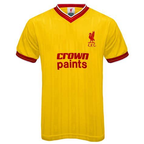 Tshirt Liverpool Desain Nv Liverpool 45 liverpool fc official football gift mens 1986 retro home away kit shirt ebay