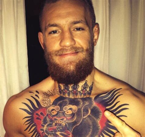 conor mcgregor tattoo pics when i m in there i m just in my zone w by conor mcgregor