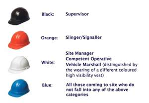 hat color code coloured hats to make safer construction enquirer