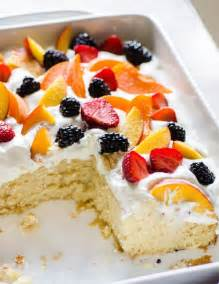 easy summer cake with fruit cream recipe dessert