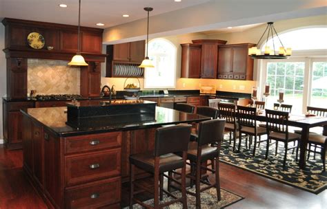 black granite  cherry cabinets kitchen wonderful