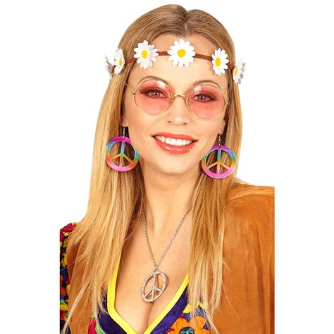 fiori hippy flower power hippie set 3 teilig