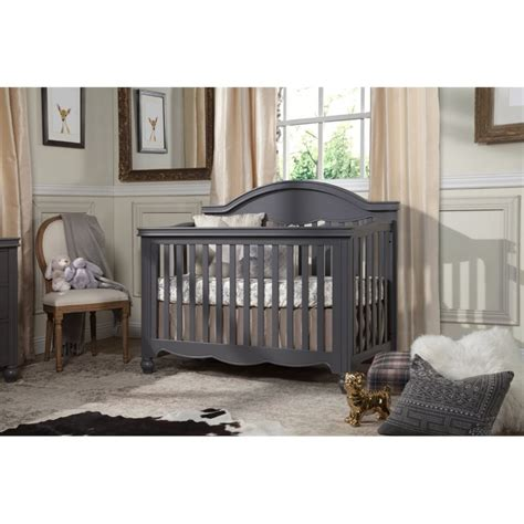 Million Dollar Baby Convertible Crib Million Dollar Baby Classic Etienne 4 In 1 Convertible Crib In Manor Gray M15701mg